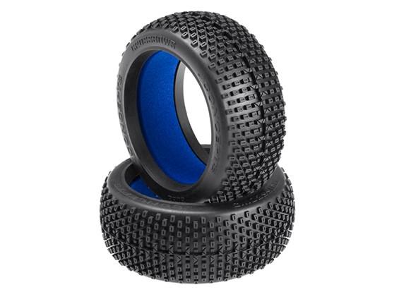 JConcepts Arbalètes 1 / 8ème Buggy Tires - Green (Super Soft) composé