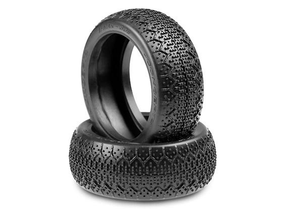 JConcepts 3Ds 1 / 8ème Buggy Tires - Green (Super Soft) composé
