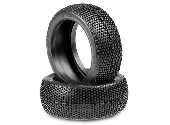 JConcepts Hybrides 1 / 8ème Buggy Tires - Green (Super Soft) composé
