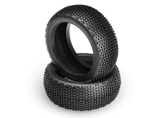 JConcepts gerbeurs 1 / 8ème Buggy Tires - Green (Super Soft) composé