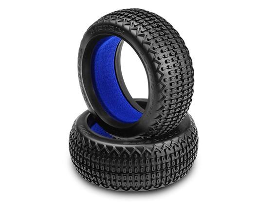 JConcepts Metrix 1 / 8ème Buggy Tires - Bleu (Soft) composé