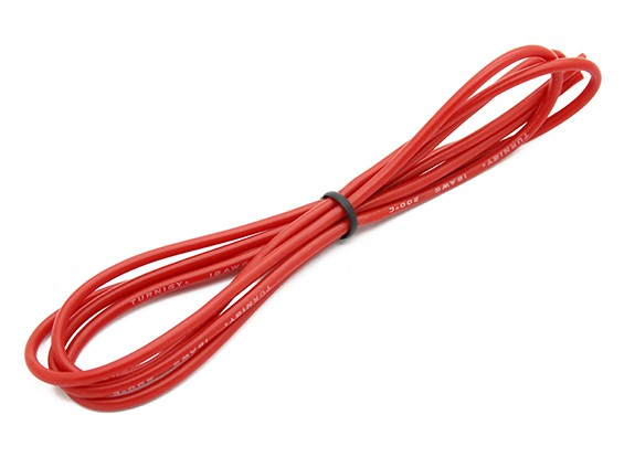 Turnigy haute qualité 18AWG silicone Fil 1m (Rouge)