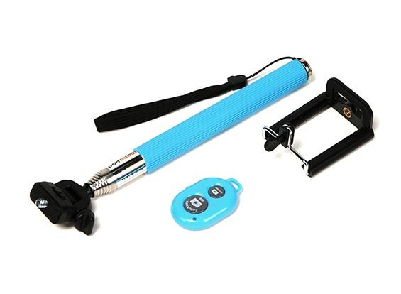 Monopole d'action Cam Extension (selfie bâton) avec Bluetooth Contrôle de l'obturateur à distance - Bleu