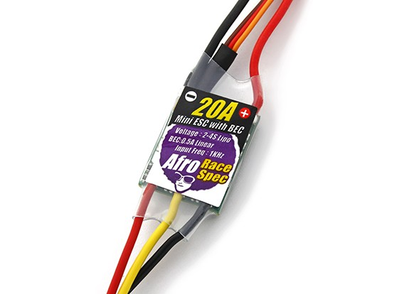 Afro Race Spec Mini 20Amp Multi-Rotor Speed Controller avec BEC