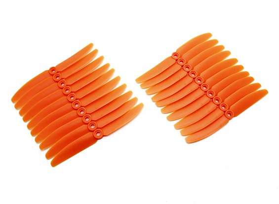 Gemfan 5030 Multirotor ABS Hélices Bulk Pack (10 paires) CW CCW (Orange)