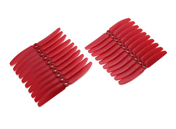 Gemfan 5030 Multirotor ABS Hélices Bulk Pack (10 paires) CW CCW (Rouge)