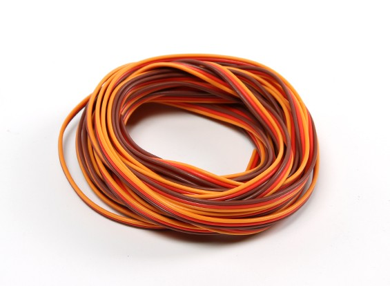 26AWG Servo Fil 5mtr (Rouge / Brun / Orange)