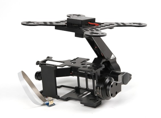 X-CAM A22-2H 2 Système Gimbal Axis for Sony NEX7 & BMPCC