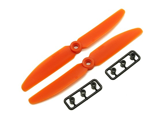 Gemfan 5030 GRP / Nylon Hélices CW / CCW Set (Orange) 5 x 3