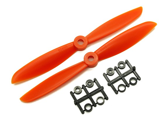 Gemfan 6045 GRP / Nylon Hélices CW / CCW Set (Orange) 6 x 4,5