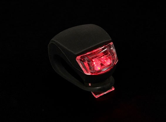 Noir Silicon Mini-lampe (LED rouge)