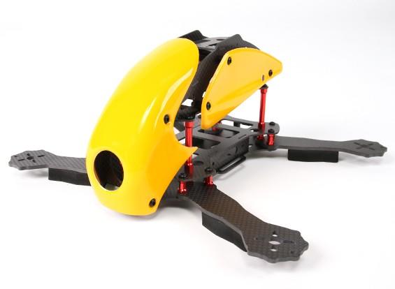 HobbyKing ™ Robocat 270mm vrai Carbon Racer Quad (Jaune)