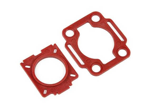 HobbyKing ™ Couleur 250 Mobius / COMS plaques de montage (Rouge)