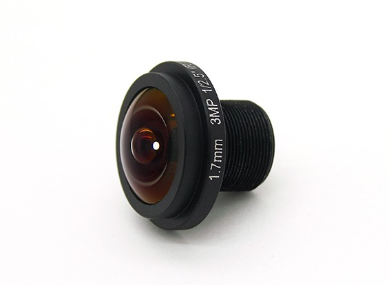 """1.7mm Grand Angle, F2.0, Mount 12x0.5, CCD Taille 1/3 """", Angle 185 °"""