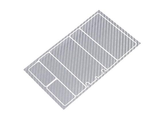Panneaux décoratifs TrackStar Cache Batterie pour Motif 2S Shorty Pack Silver Carbon (1 Pc)