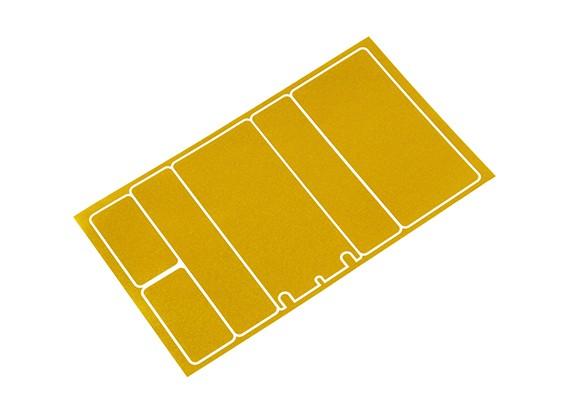 Panneaux décoratifs TrackStar Cache Batterie pour 2S Shorty Paquet métallique de couleur d'or (1 Pc)