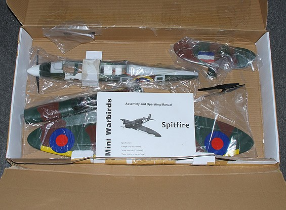 SCRATCH / DENT Spitfire Funfighter - EPO 665mm (P & P) incl. High-Spec (3s ~ 4s) ESC