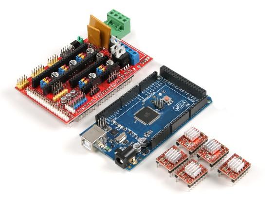 Control Board Kit 2560 commande maître R3 3D de l'imprimante ainsi RAMPS 1.4 plus4988 entraînement (avec ailettes de refroidissement)