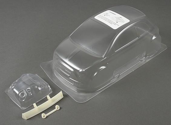 01:10 Fiat 500 Effacer Body Shell (pour châssis M)