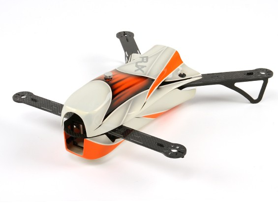 RJX CAOS 330 FPV Racing Quadcopter Airframe Seulement (Orange)