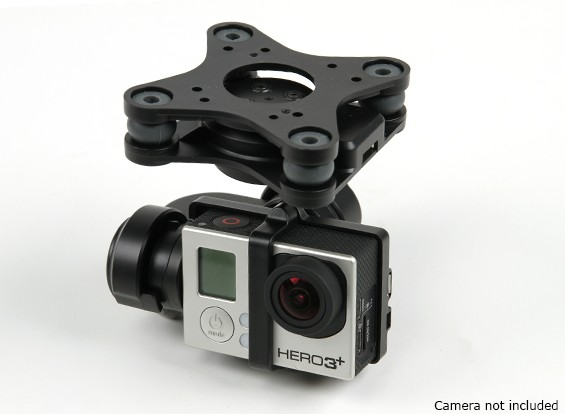 GH3-3D 3-Axis Caméra Gimbal (Noir)