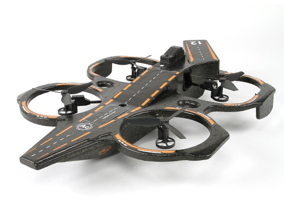 WLtoys Q202 2.4G 4CH 6 Axis Aircraft Carrier triphibie RC Quadcopter W / LED RTF (US Plug) (Mode 2)
