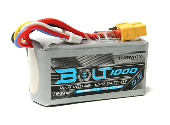 Turnigy Bolt 1000mAh 15.2V 4S 65 ~ 130C High Voltage Lipoly Pack (LiHV)