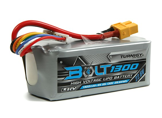 Turnigy Bolt 1300mAh 6S 22.8V 65 ~ 130C High Voltage Lipoly Pack (LiHV)