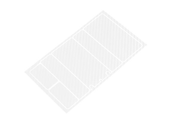 Panneaux décoratifs TrackStar Cache Batterie pour Motif 2S Shorty Paquet Transparence carbone (1 pc)
