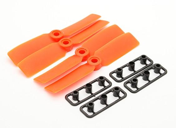 GemFan Bull Nose 3545 GRP / Nylon Hélices CW / CCW Set Orange (2 paires)