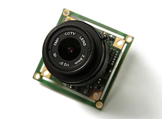 QUANUM 700TVL SONY 1/3 Caméra 2.8mm Lens (NTSC)