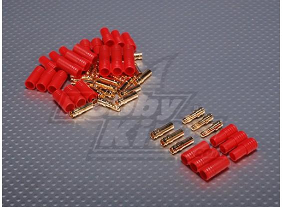 3,5 mm 3 fils Bullet-connecteur pour moteur (5pairs / sac)