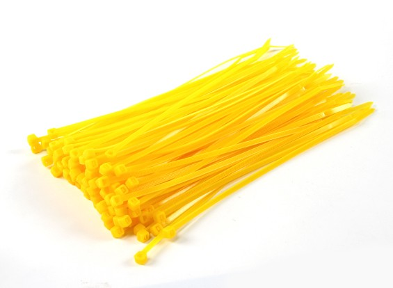 Cable Ties 200mm x 4mm Jaune (100pcs)