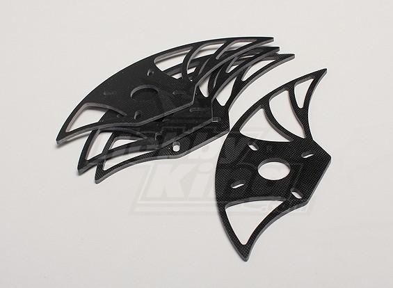 HobbyKing Y650 Scorpion Glass Fiber Motor Mount Plate (4pcs / sac)