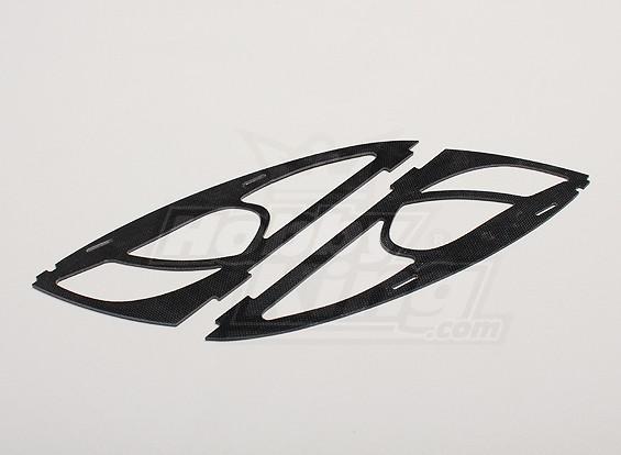 HobbyKing Y650 Scorpion fibre de verre Cadre Cheeks (2pcs / sac)