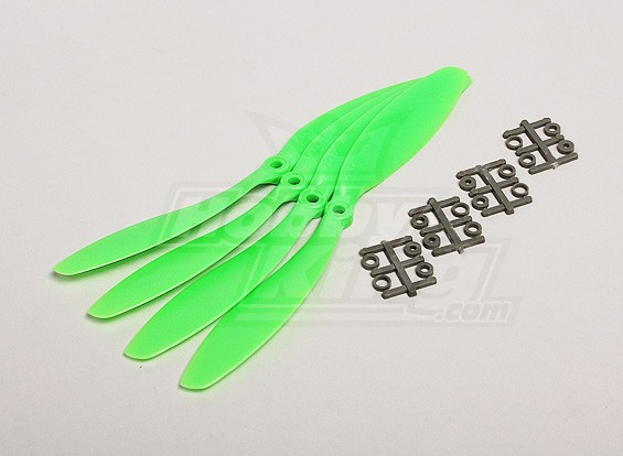 GWS style slowfly Hélice 9x4.7 Green (CCW) (4pcs)