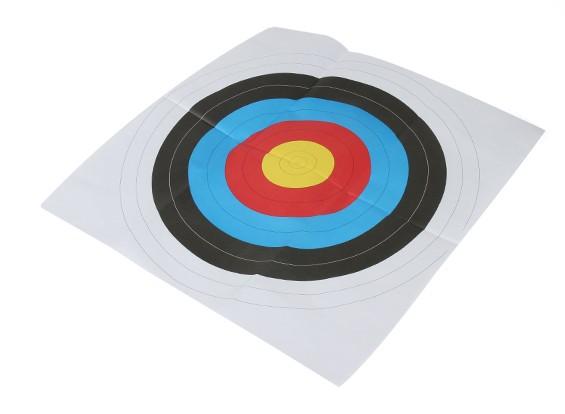 Longshot Portsmouth visage rond papier cible (1 / paquet) 60 x 60cm
