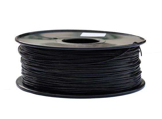HobbyKing 3D Filament Imprimante 1.75mm PLA 1KG Spool (Noir)
