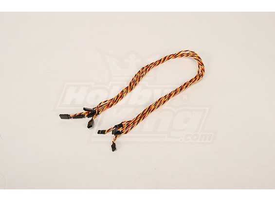 Twisted 60CM Servo Extention Lead (JR) 22AWG (5pcs / bag)