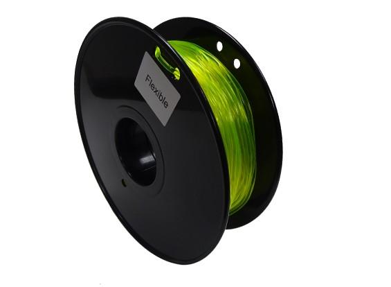 HobbyKing 3D Filament Imprimante 1.75mm flexible 0.8KG Spool (Jaune)