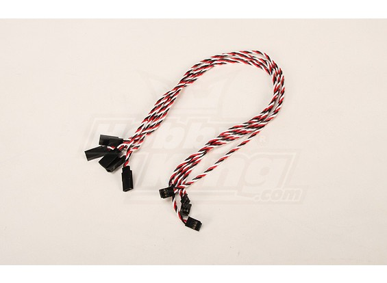 Twisted 45CM Servo Extention Lead (Futaba) 22AWG (5pcs / bag)
