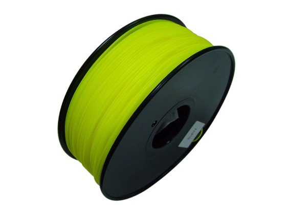 HobbyKing 3D Filament Imprimante 1.75mm HIPS 1KG Spool (Solid Yellow)