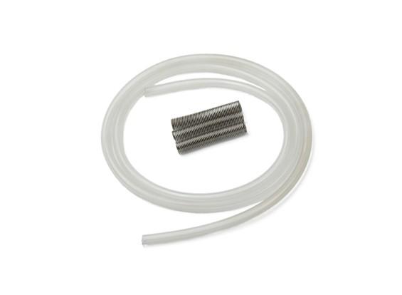L'eau de refroidissement tube de silicone avec ressort