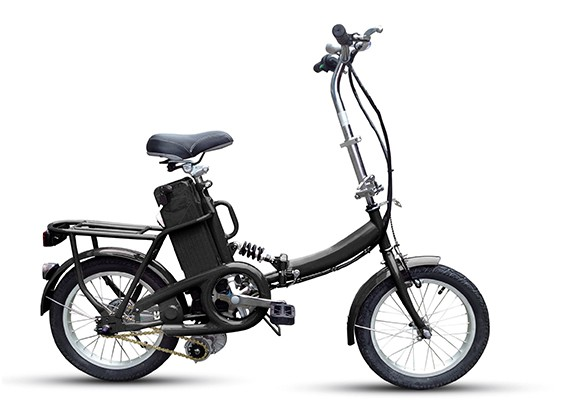 Electric Folding Bike Unfolded view
