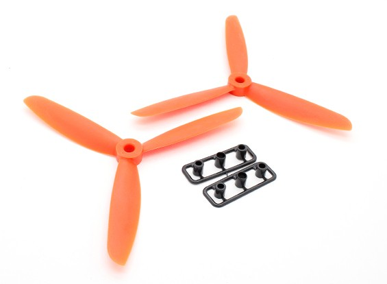 GemFan 5045 GRP 3-Blade Hélices CW / CCW Set Orange (1 paire)