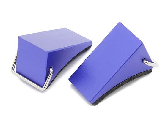All Wheel Métal Cales pour 1/10 RC Echelle Crawlers - Bleu (Paire)