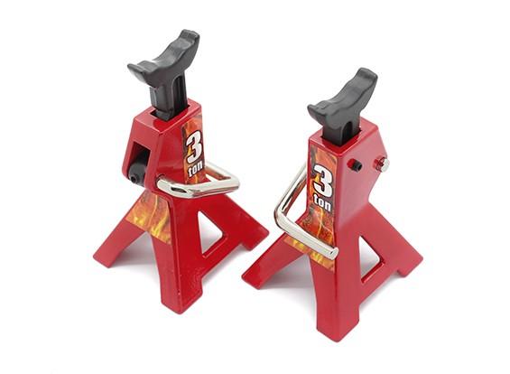 3 Ton Échelle Jack Stands 1/10 RC Echelle Crawler - Rouge