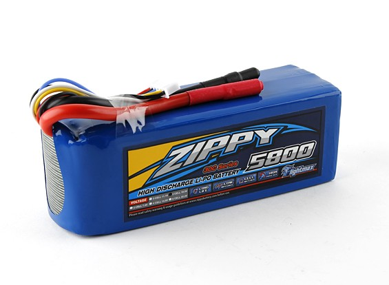 ZIPPY FlightMax 5800mAh 5S1P 30C