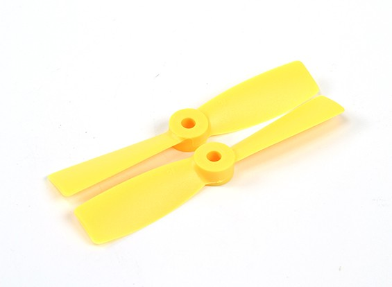 HobbyKing 4050 Bullnose PC Hélices (CW / CCW) Jaune (1 paire)