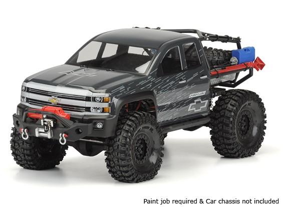 "Pro-Line Chevy Silverado Effacer Body Shell pour SCX10 Trail Honcho (12,3 ""d'empattement)"